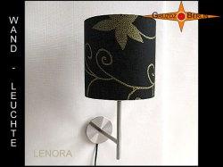 Schwarze Wandlampe mit Golddruck LENORA