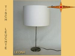 Hell naturfarbene Tischlampe LEONA aus Naturstoff
