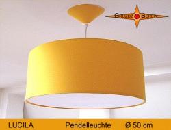 Gelbe Hängelampe mit Diffusor LUCILA Ø50 cm