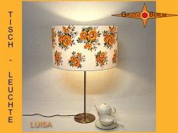 Vintage Tischlampe aus Retrostoff der 60er Jahre LUISA