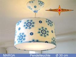 Vintage Lampe aus Stoff der 80er Jahre MARGA Ø30 cm