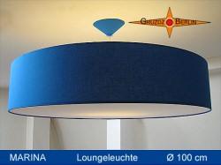 Riesige blaue Lampe mit Diffusor MARINA Ø100 cm