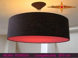 Braune Hängelampe mit pink Diffusor MONA ROSEDA Ø70 cm
