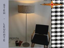 Stehlampe PEPITA schwarz weiße Stehleuchte