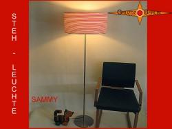 Stehlampe Rot Weiß geringelt SAMMY
