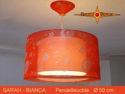 Orange Seidenlampe SARAH-BIANCA Ø50 cm Pendellampe tranparent orange