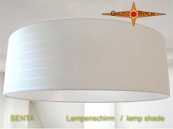 Lampenschirm champagner SENTA Ø60 cm Leinen-BW Streifenjacquard natur