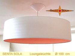 Riesige Hängelampe mit orangem Diffusor SENTA SOLA Ø100 cm