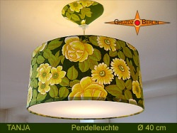 Grüne Lampe Vintage Design TANJA Ø40 cm