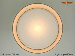 Lampendiffusor Ø70 cm Diffusor mit Lichtrand