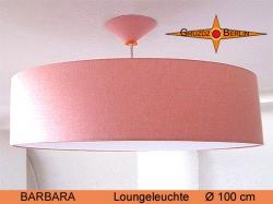 XXL Loungeleuchte mit Diffusor BARBARA Ø100 cm  apricotfarben
