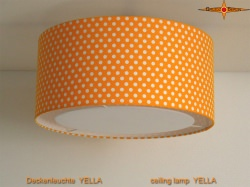 Gelbe Deckenlampe mit Punkten YELLA  Ø45 cm