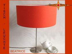 Orange Tischlampe aus Leinen BEATRICE