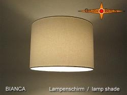 Weisser Lampenschirm aus Leinen BIANCA Ø30 cm