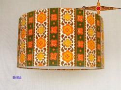 Lampenschirm Vintage Design  Ø30 cm mit Prilblumen  der 70er