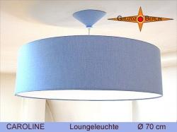 Blaue Hängelampe mit Diffusor CAROLINE  Ø70 cm