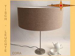 Tischlampe aus Leinen CORA Landhausstil Lampe