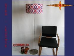 Vintage Stehlampe CORNELIA mit Prilblumenmuster