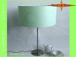 Tischlampe aus grünem Damast ISABELLA