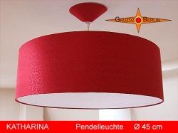 Rote Lampe aus Seide KATHARINA Ø45 cm  mit Diffusor