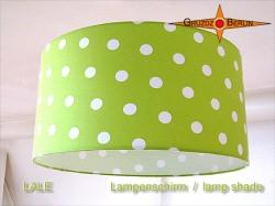 Grüner Lampenschirm mit Punkten LALE Ø35 cm