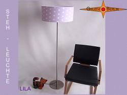 Stehlampe mit Punkten LILA Fliederfarben