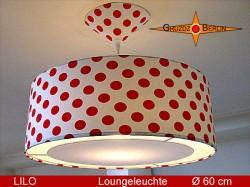 Gepunktete Hängelampe Rot Weiß  LILO Ø60 cm