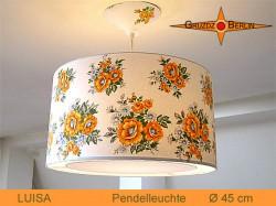 Vintage Lampe LUISA  Ø45 cm mit Lichtrand Diffusor