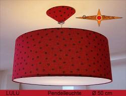 Gepunktete Lampe Rot Schwarz LULU Ø50cm  Marienkäfer
