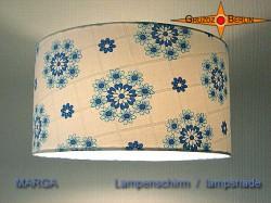Vintage Lampenschirm MARGA Ø35 cm mit Prilblumen