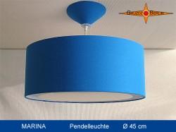 Blaue Hängelampe MARINA Ø45 cm mit Lichtrand Diffusor