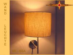 Wandlampe aus Leinen MELISSA