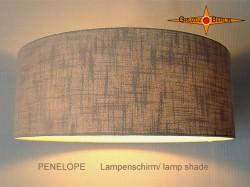 Naturfarbener Lampenschirm Leinen PENELOPE Ø50 cm Landhausstil