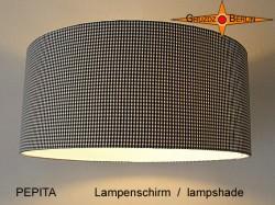 Lampenschirm PEPITA Ø45 cm Schwarz Weiße