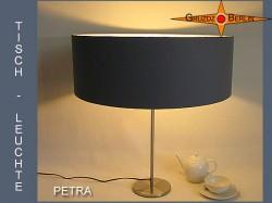 Graue Tischlampe PETRA Tischleuchte