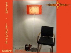 Stehlampe mit doppeltem Lampenschirm SARAH-BIANCA aus Seide