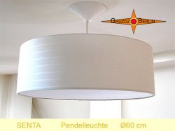 Pendellampe beige SENTA Ø60 cm mit Diffusor
