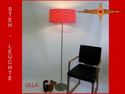 Stehlampe Rot gepunktet ULLA Stehleuchte Punkte und Blüten auf Rot