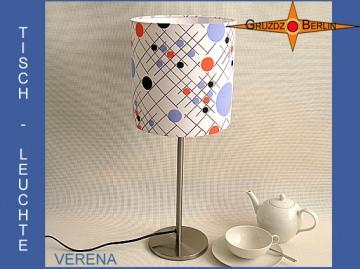 Kleine Tischleuchte gepunktet VERENA Tischlampe Retrodesign