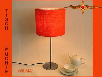 Kleine Tischlampe aus oranger Jute WILMA kleine Tischleuchte