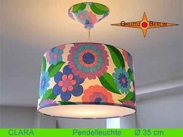 Vintage Lampe CLARA Ø35 cm Pendellampe mit Diffusor