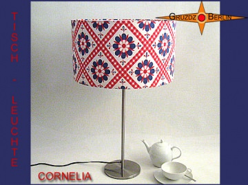 Vintage Tischlampe CORNELIA Vintage Tischleuchte mit Prilblumen