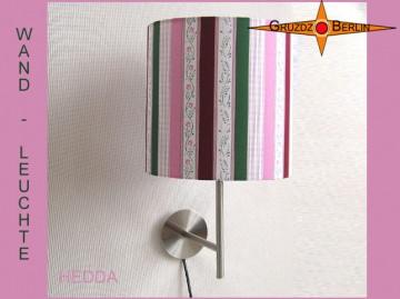 Wandlampe gestreift HEDDA Wandleuchte Rosa Grün Weiss