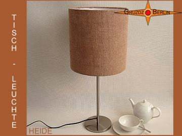 Tischlampe aus Jute HEIDE Landhausstil Jutelampe