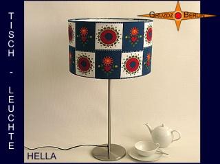 Tischlampe mit Prilblumen HELLA Tischleuchte im Vintage Design