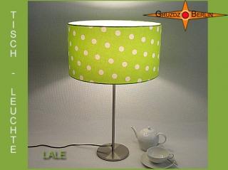 Grüne Tischlampe mit Punkten LALE Tischleuchte Grün
