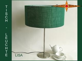 Tischleuchte grün LISA Tischlampe aus grüner Jute