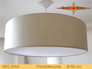 Pendellampe Leinen MELISSA Ø60 cm beige Hängelampe mit Diffusor