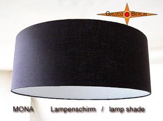 Dunkelbrauner Lampenschirm MONA Ø45cm Leinenlampe dunkel braun