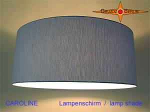 Blauer Lampenschirm CAROLINE Ø45 cm Leinenlampe blau